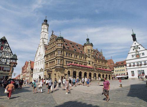 慕尼黑必玩-Rothenburg ob der Tauber 羅滕堡 = 羅騰堡-Rathausturm - Altes Rathaus 羅騰堡市政廳
