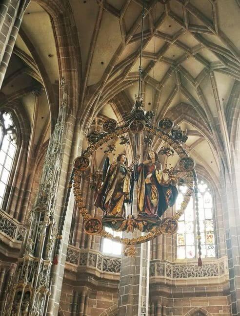 紐倫堡必玩-St. Lorenz Kirche Nürnberg 聖勞倫斯堂-Engelsgruss 天使報喜圖