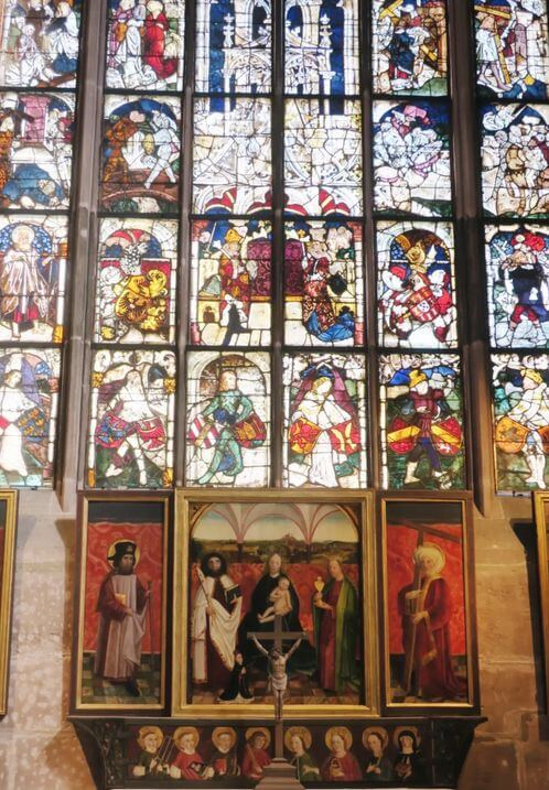 紐倫堡必玩-St. Lorenz Kirche Nürnberg 聖勞倫斯堂-Rosetta玻璃窗