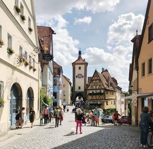 慕尼黑必玩-Rothenburg ob der Tauber 羅滕堡 = 羅騰堡-Plönlein 普雷萊茵廣場 = 普連萊小廣場= 步雲萊