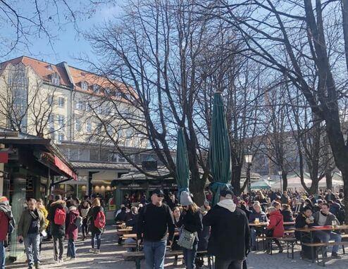慕尼黑必玩-Viktualienmarkt 穀物市場