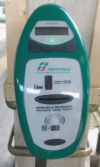 義大利國鐵車票打卡機