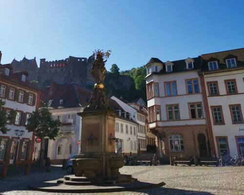 德國海德堡Heidelberg必玩-Kornmarkt 穀物廣場