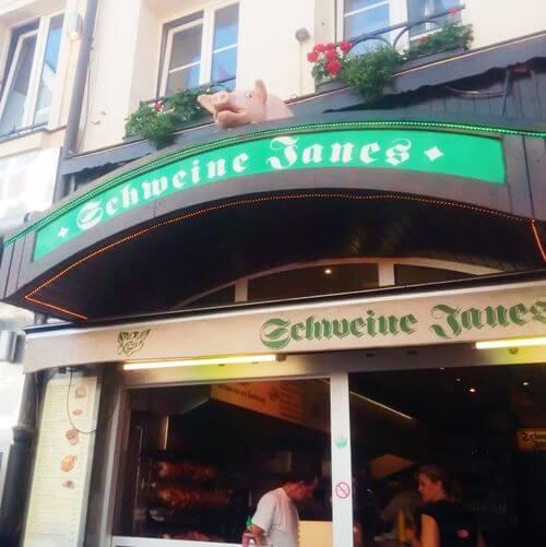 德國杜塞道夫必吃-Schweine Janes Altstadt