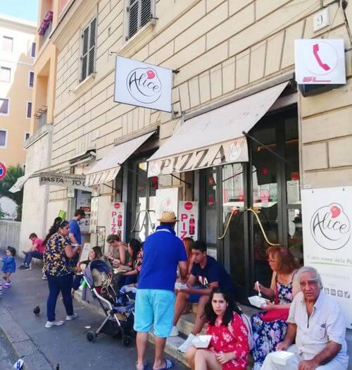 義大利羅馬Rome (Roma)梵蒂岡Vatican City (義語 Stato della Città del Vaticano)必吃 -Alice Pizza Via delle Grazie