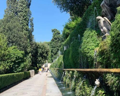 義大利蒂沃利Tivoli必玩 -Villa d'Este 埃斯特別墅 (千泉宮)-Le Cento Fontane 百泉路 (The Hundred Fountains)