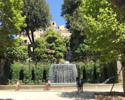 義大利蒂沃利Tivoli必玩 -Villa d'Este 埃斯特別墅 (千泉宮)-Fontana Di Tivoli 蒂沃利噴泉 (The Oval Fountain)