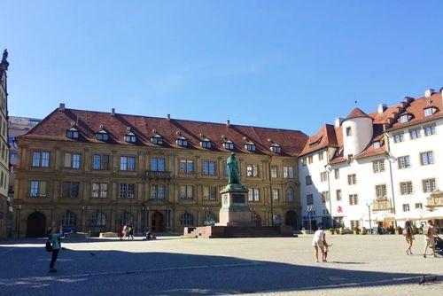 德國司徒加特=斯圖加特Stuttgart必玩-Schillerplatz 席勒廣場