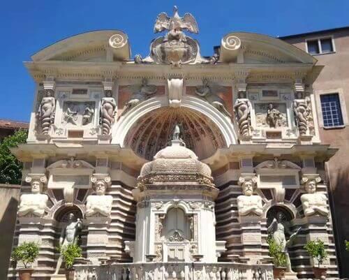 義大利蒂沃利Tivoli必玩 -Villa d'Este 埃斯特別墅 (千泉宮)-Fontana di Nettuno 海神噴泉