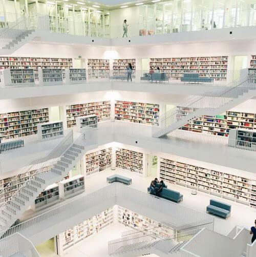 德國司徒加特=斯圖加特Stuttgart必玩-Stadtbibliothek am Mailänder Platz 市立圖書館