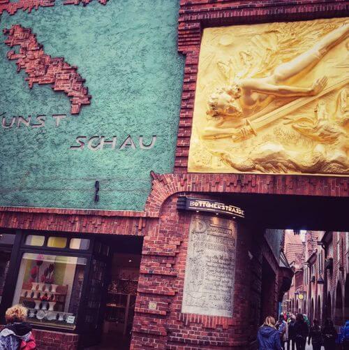 德國不來梅=不萊梅Bremen必玩-Böttcherstraße 箍桶匠街 = 黃金巷