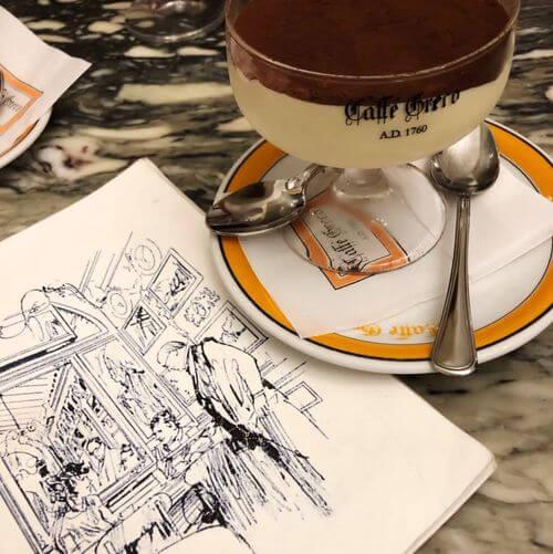 義大利羅馬Rome (Roma)必吃 -Antico Caffè Greco 古希臘咖啡館