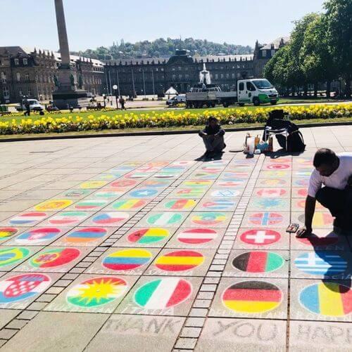 德國司徒加特=斯圖加特Stuttgart必玩-Schlossplatz 王宮廣場