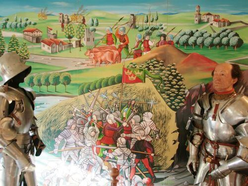 義大利蒙特里久尼 = 蒙特里焦尼 Monteriggioni必玩 -Museo Monteriggioni in Arme 蒙特里久尼軍事博物館
