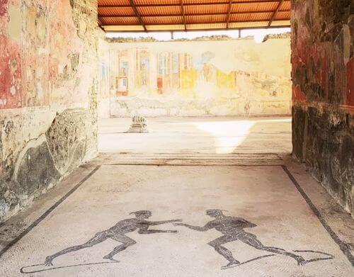 義大利龐貝 = 蓬佩伊 Pompeii 必玩 - Regio VIII 6 Gymnasium of the Iuvenes (義 Palestra degli Iuvenes)