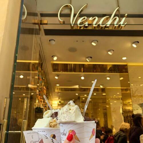 義大利西恩納 = 錫耶納 Siena 必吃 -Venchi Cioccolato e Gelato