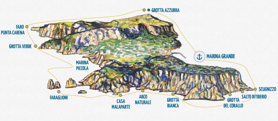 義大利卡布里島 ISOLA DI CAPRI 必玩 - MOTOSCAFISTI CAPRI 快艇