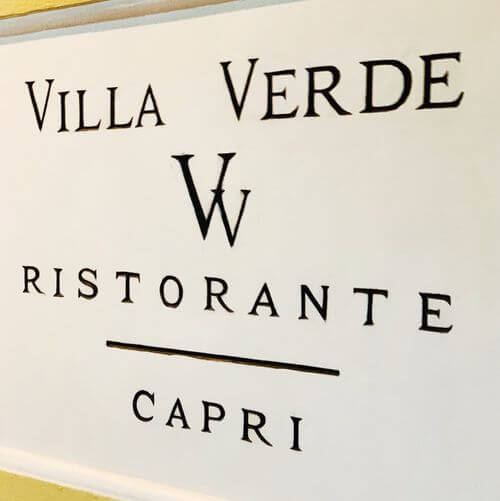義大利卡布里島 ISOLA DI CAPRI 必吃 - Ristorante Villa Verde