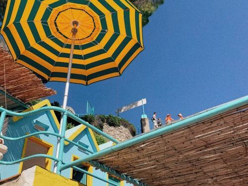 義大利卡布里島 ISOLA DI CAPRI 必玩 - Spiaggia Torre Saracena 海灘