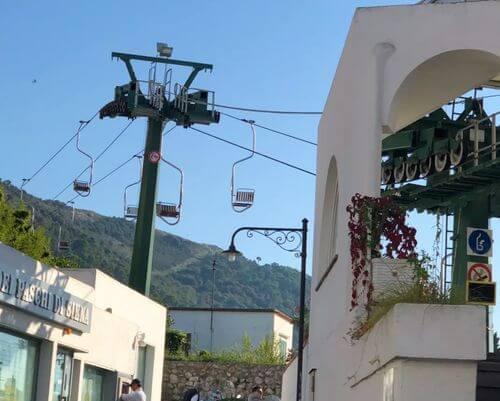 義大利卡布里島 ISOLA DI CAPRI 必玩 - Sacmif Engineering Chairlift 單人索道