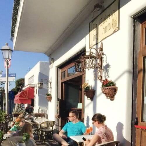 義大利卡布里島 ISOLA DI CAPRI 必吃 - La Taberna degli Amici