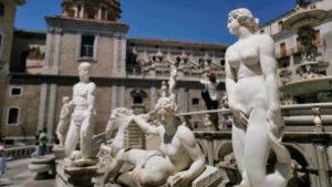 義大利巴勒莫 Palermo 必玩 - Fontana Pretoria 普雷托利亞噴泉 = 羞恥噴泉