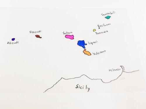 義大利墨西拿 = 美西納 Messina Isole Eolie 埃奧利火山群島 = Aeolian Islands 風神群島 八座小島