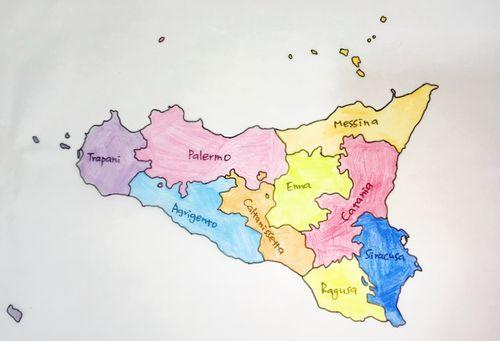 義大利西西里島 Sicily (義語 Sicilia) - 9省份 Provinca