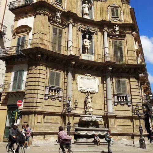 義大利巴勒莫 Palermo 必玩 - Quattro Canti 四首歌廣場 = 四角廣場