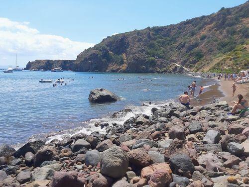 義大利帕納雷阿島 ISOLA DI PANAREA 必玩 -Spiaggia Cala Zimmari 紅色沙灘