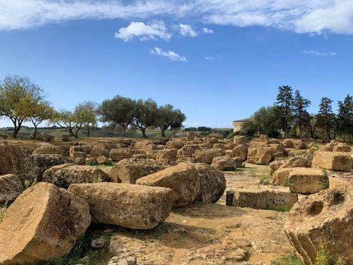 義大利阿格里真托 Agrigento 必玩 - 神殿之谷 (=神廟之谷) Valle dei Templi - 8 Temple of Olympian Zeus (義 Tempio di Giove)