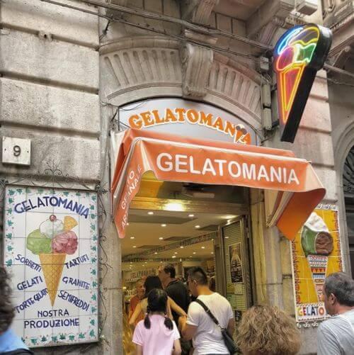 義大利陶爾米納 Taormina (西西里語 Taurmina) 必吃 - Gelatomania Taormina