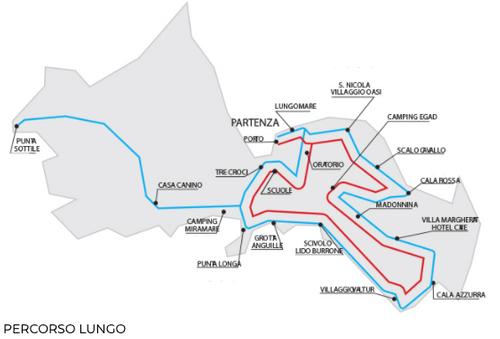 義大利法維尼亞納島 Isola di Favignana (西西里語 Faugnana) 必玩 - Egadilandia 觀光小火車 Percorso lungo (藍線)
