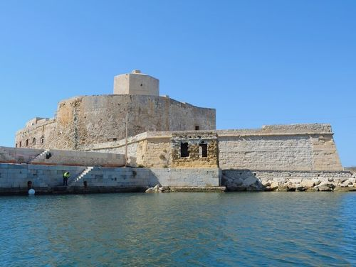 義大利特拉帕尼 Trapani (西西里語 Tràpani) 必玩 - Castello della Colombaia = Torre Peliade = Castello di Mare 海上城堡