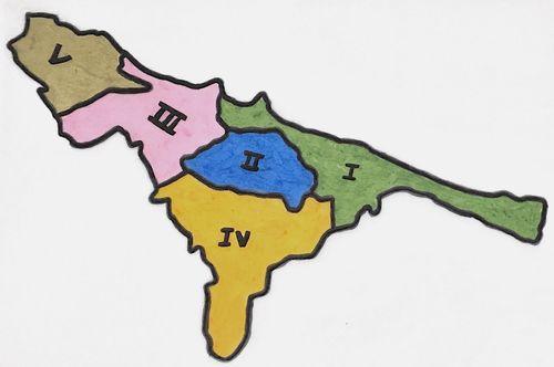 義大利巴里 Bari (巴里方言 Bare) 5大行政區 Municipio