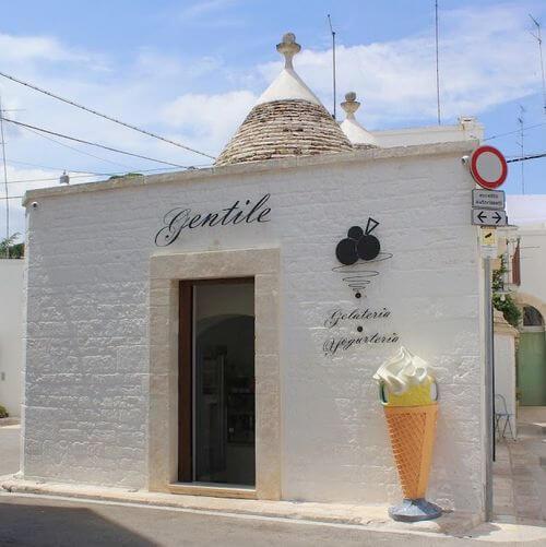 義大利阿爾貝羅貝洛 Alberobello (巴里方言 Ajarubbédde)必吃 - Gelateria Gentile