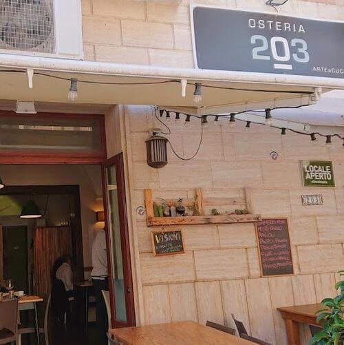 義大利萊切 = 萊可仕 = 雷契 Lecce 必吃 - OSTERIA 203 (Osteria Duezerotre)