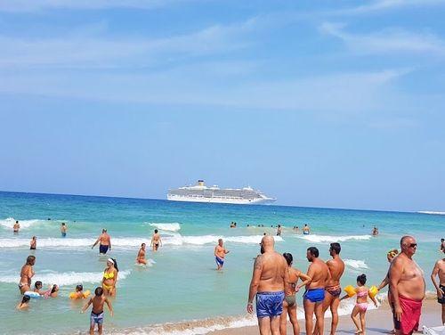 義大利巴里 Bari (巴里方言 Bare) 必玩 - Spiaggia Libera Lato S.Francesco 麗都‧聖佛郎切斯科海灘