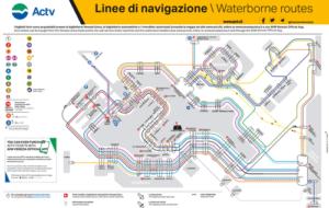 義大利威尼斯 Venice (威尼斯方言 Venezia) - ACTV Waterborne Routes