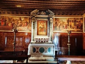義大利威尼斯 Venice 城堡區 Sestiere Castello 必玩 - Scuola di San Giorgio degli Schiavoni = Scuola Dalmata di San Giorgio e Trifone 斯拉夫的聖喬治會堂 (聖喬治﹒達爾馬提亞會堂)